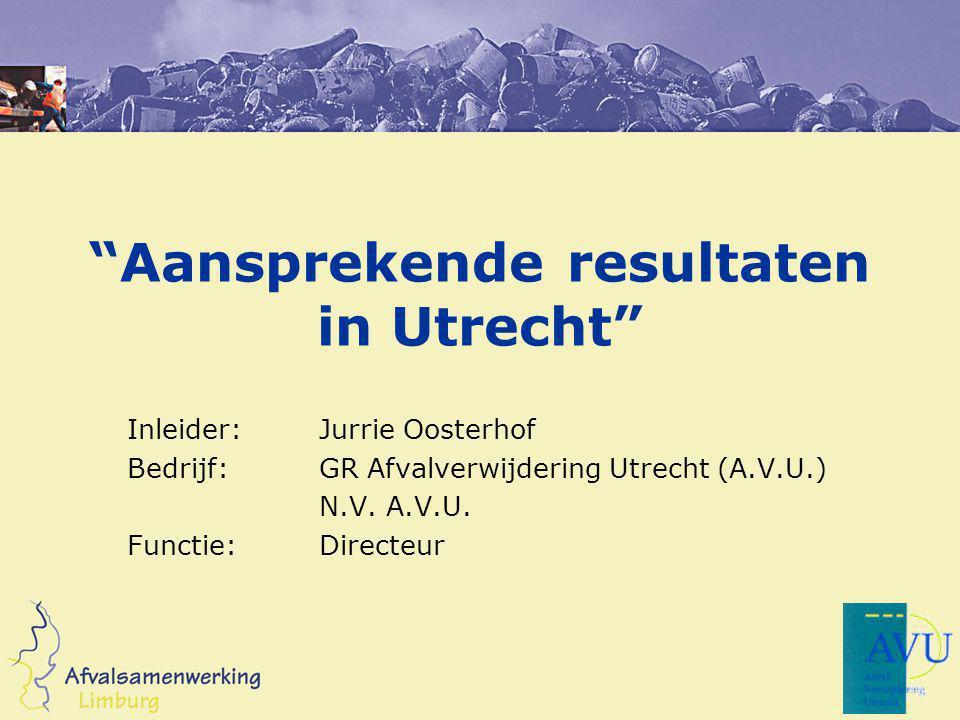 Aansprekende resultaten in Utrecht