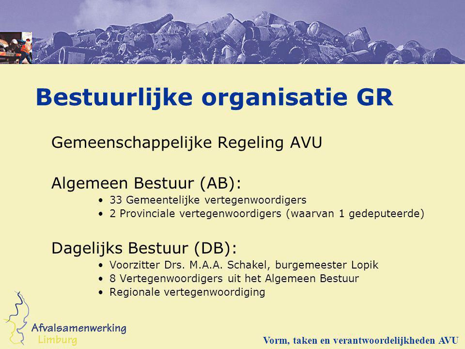 Bestuurlijke organisatie GR