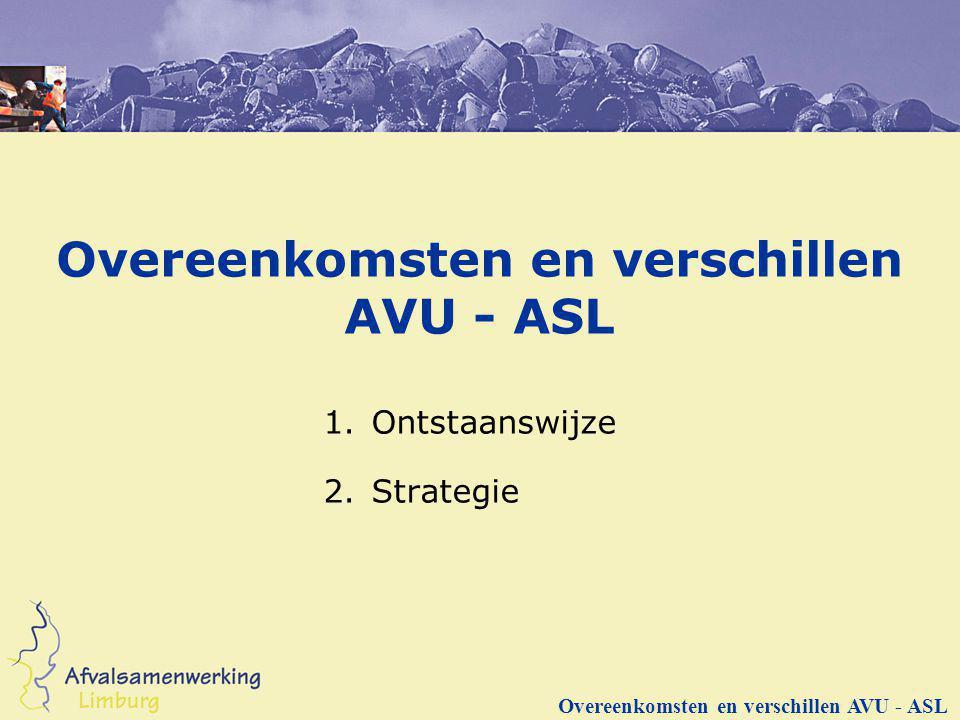 Overeenkomsten en verschillen AVU - ASL