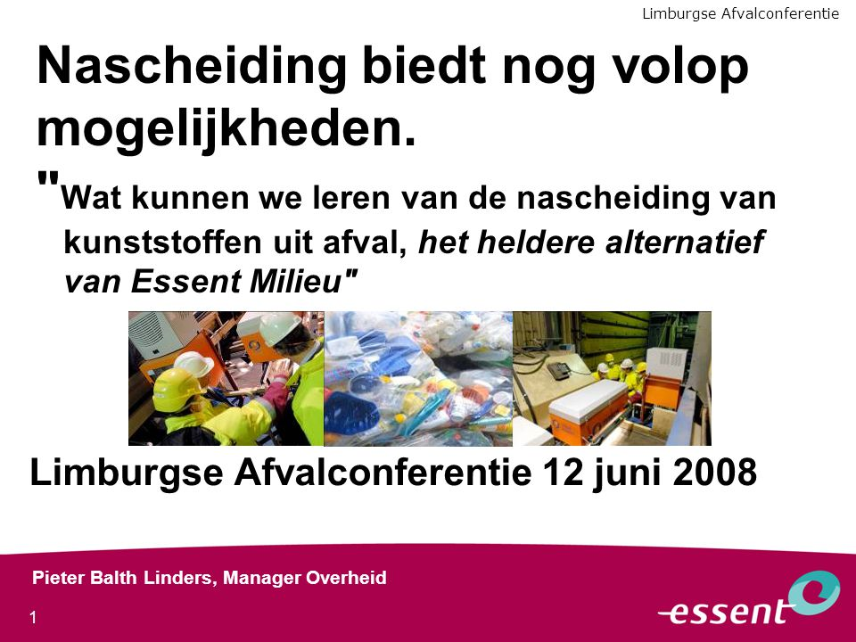 Limburgse Afvalconferentie 12 juni 2008