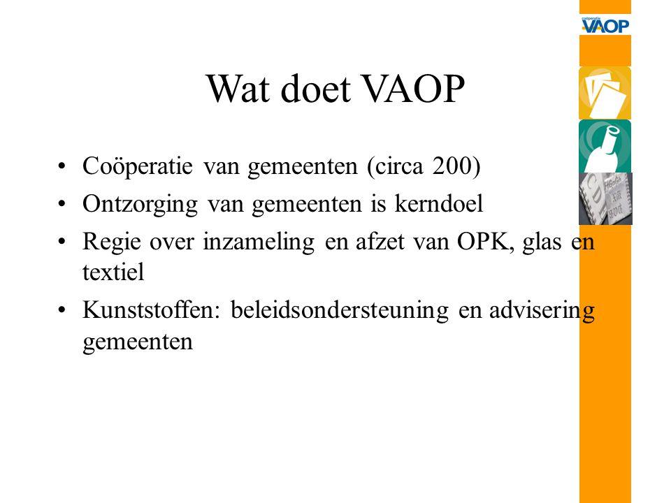 Wat doet VAOP Coöperatie van gemeenten (circa 200)
