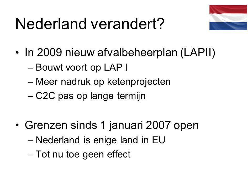 Nederland verandert In 2009 nieuw afvalbeheerplan (LAPII)