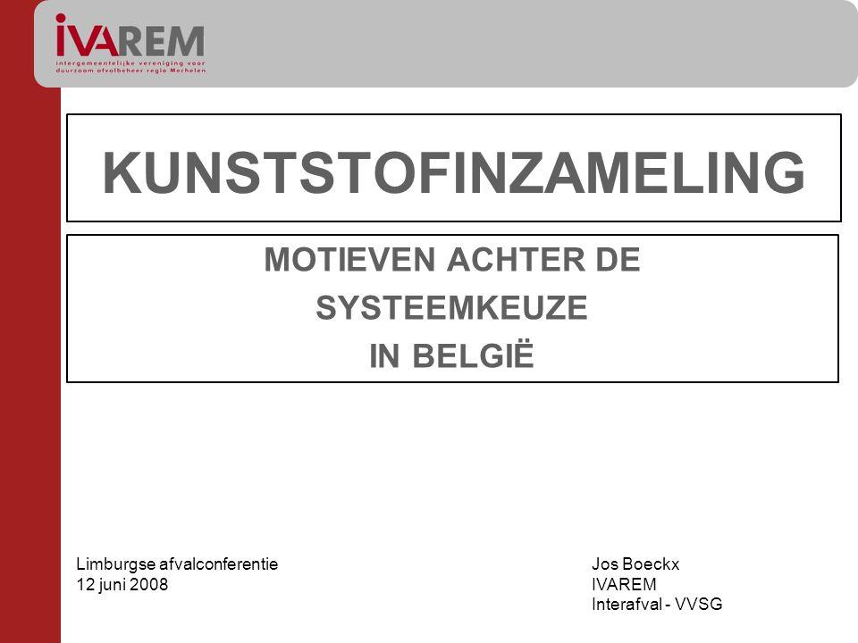 MOTIEVEN ACHTER DE SYSTEEMKEUZE IN BELGIË
