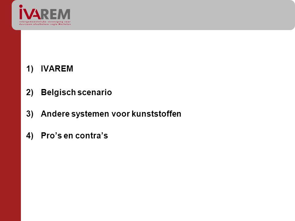 IVAREM Belgisch scenario Andere systemen voor kunststoffen Pro's en contra's