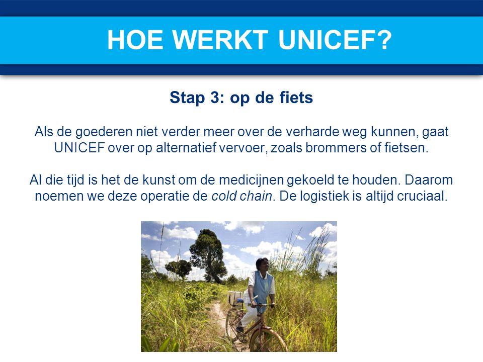 Hoe werkt UNICEF Stap 3: op de fiets