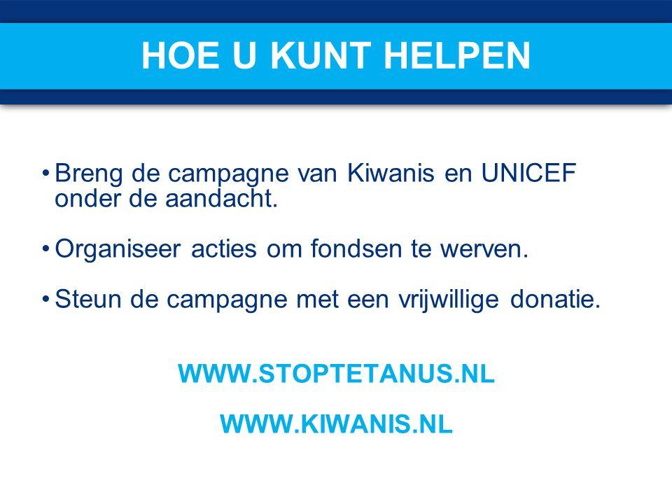 Hoe u kunt helpen Breng de campagne van Kiwanis en UNICEF onder de aandacht. Organiseer acties om fondsen te werven.