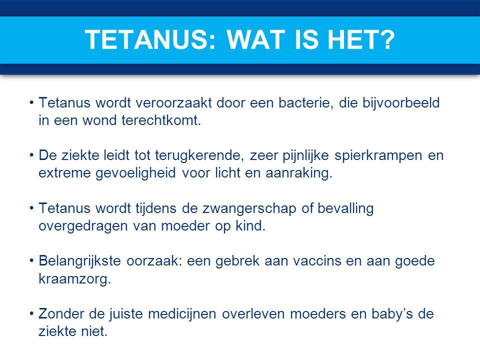 Tetanus: wat is het Tetanus wordt veroorzaakt door een bacterie, die bijvoorbeeld in een wond terechtkomt.