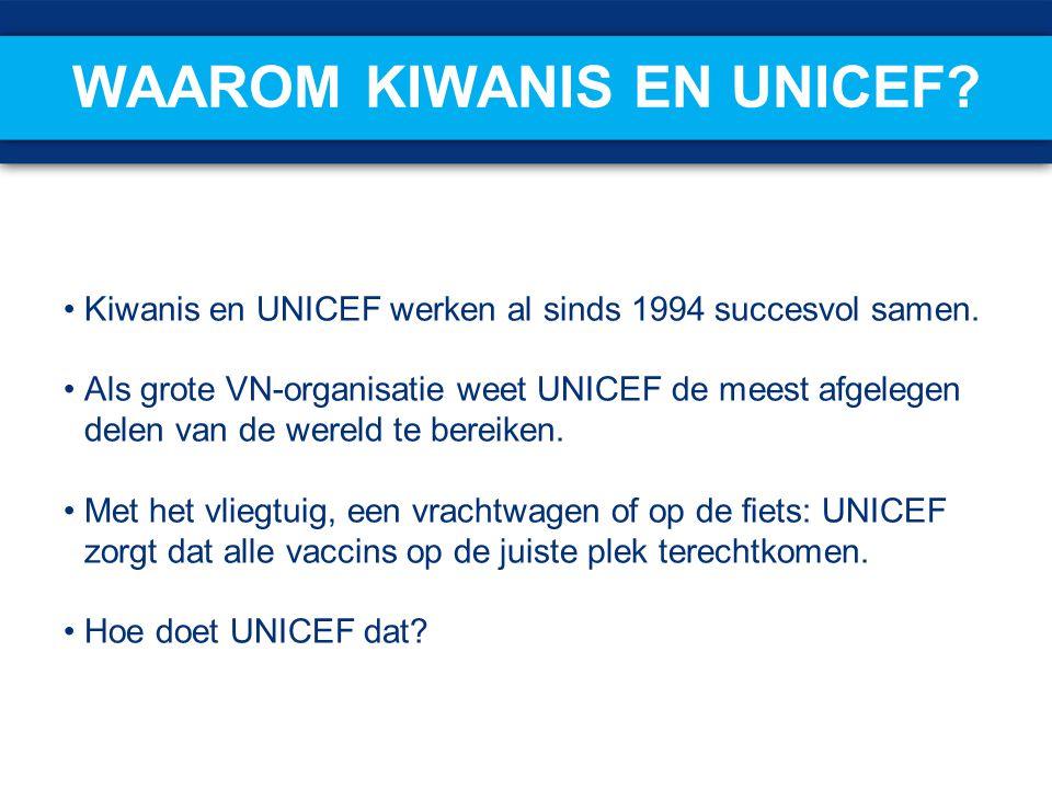 Waarom Kiwanis en UNICEF