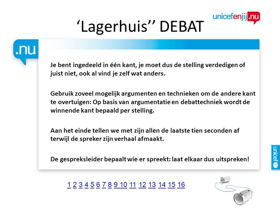 'Lagerhuis'' DEBAT
