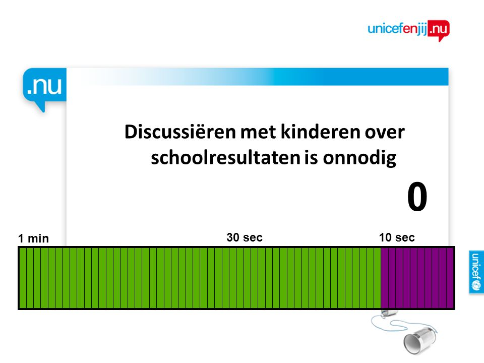 Discussiëren met kinderen over schoolresultaten is onnodig