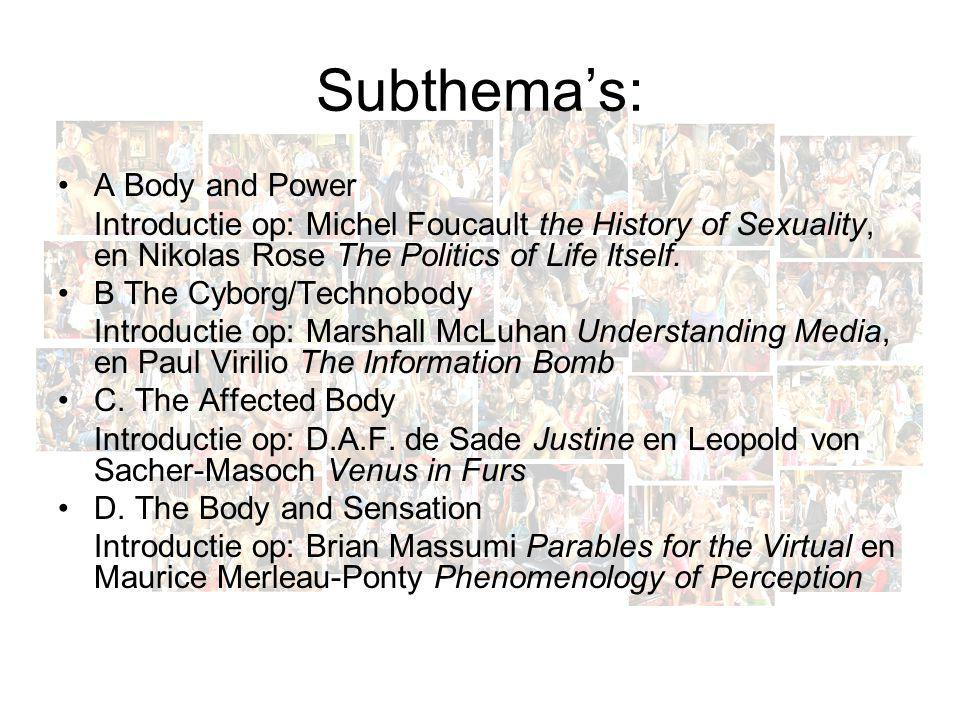 Subthema's: A Body and Power