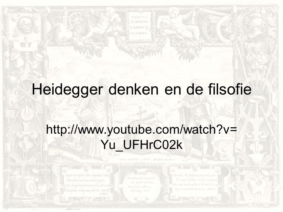 Heidegger denken en de filsofie
