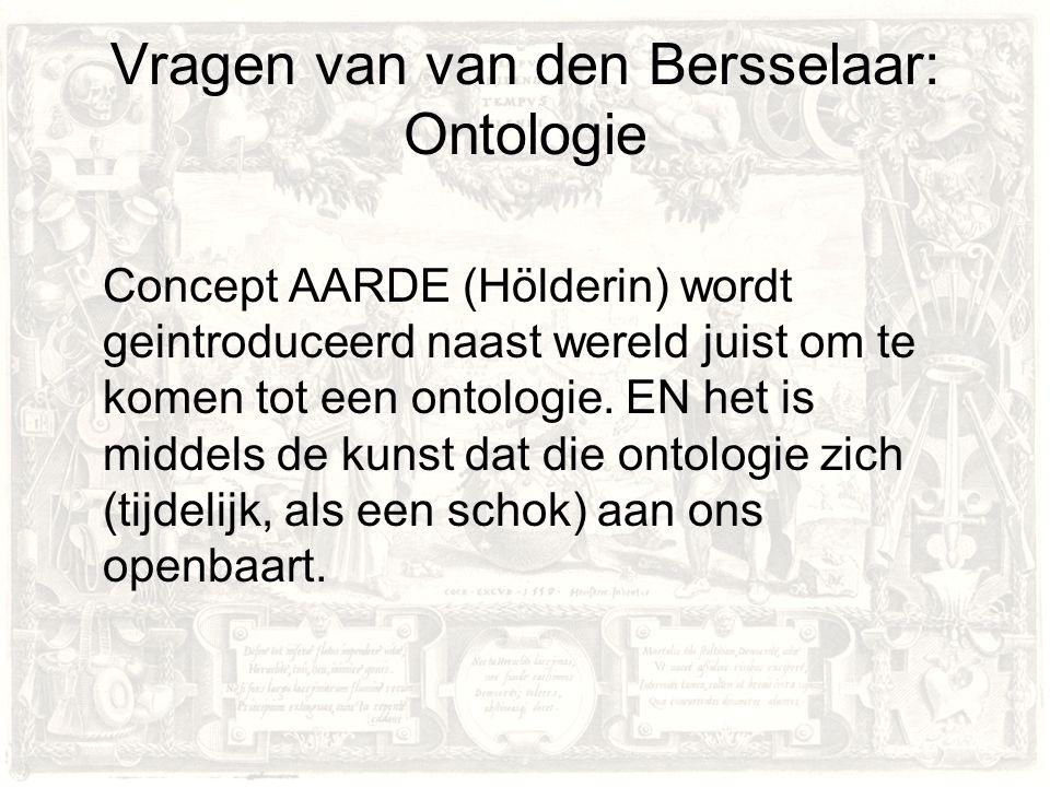 Vragen van van den Bersselaar: Ontologie