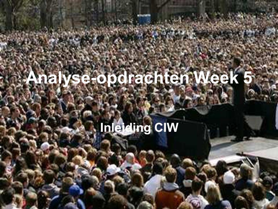 Analyse-opdrachten Week 5