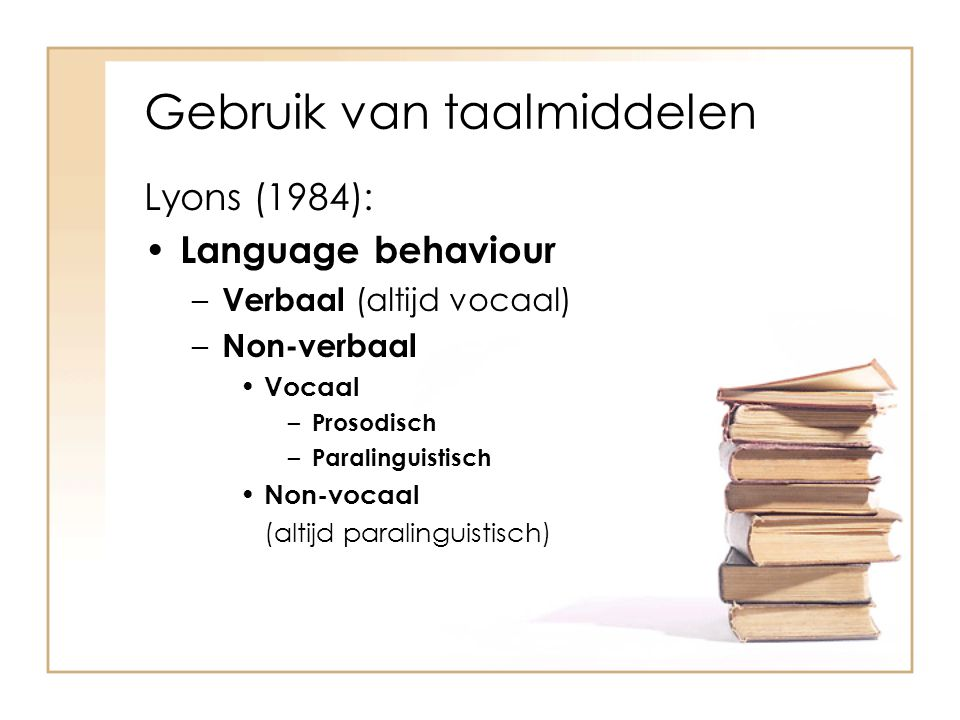 Gebruik van taalmiddelen