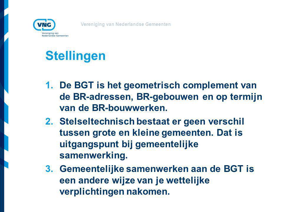 Stellingen De BGT is het geometrisch complement van de BR-adressen, BR-gebouwen en op termijn van de BR-bouwwerken.