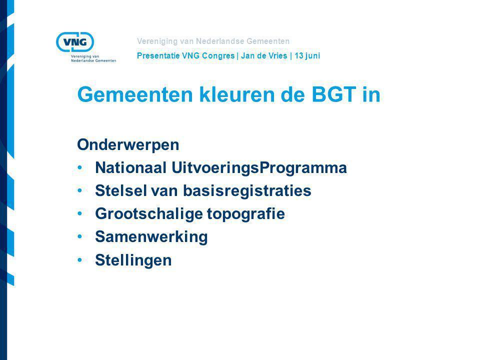Gemeenten kleuren de BGT in