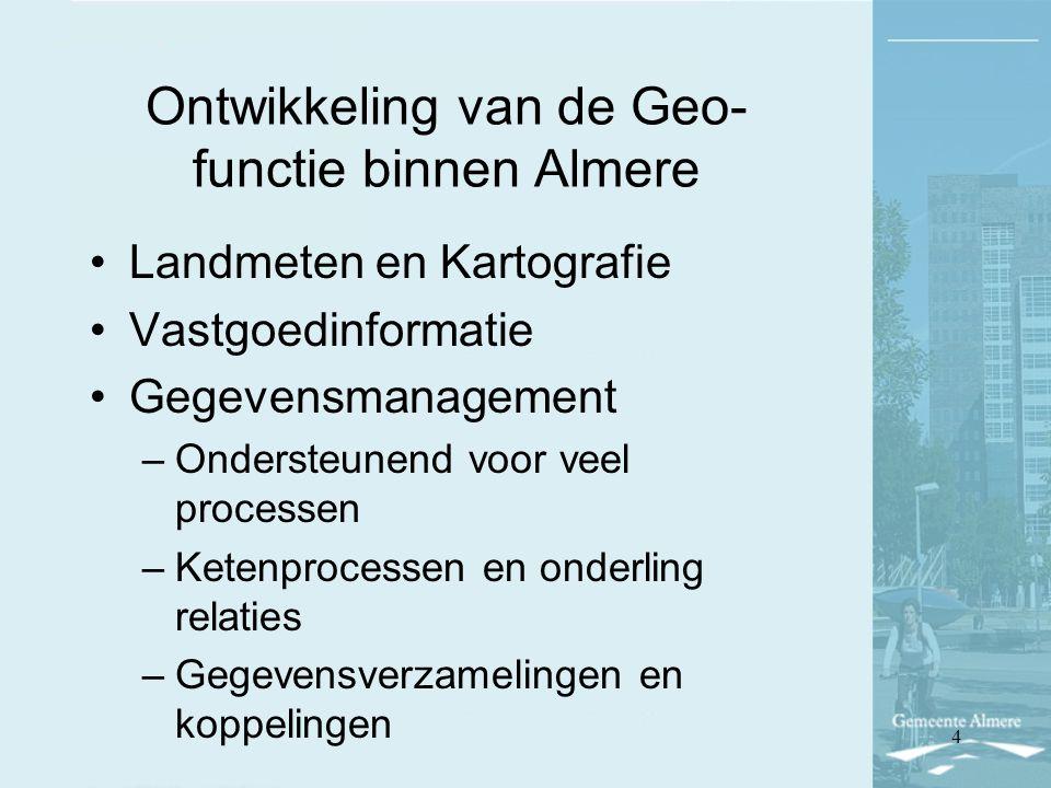 Ontwikkeling van de Geo-functie binnen Almere