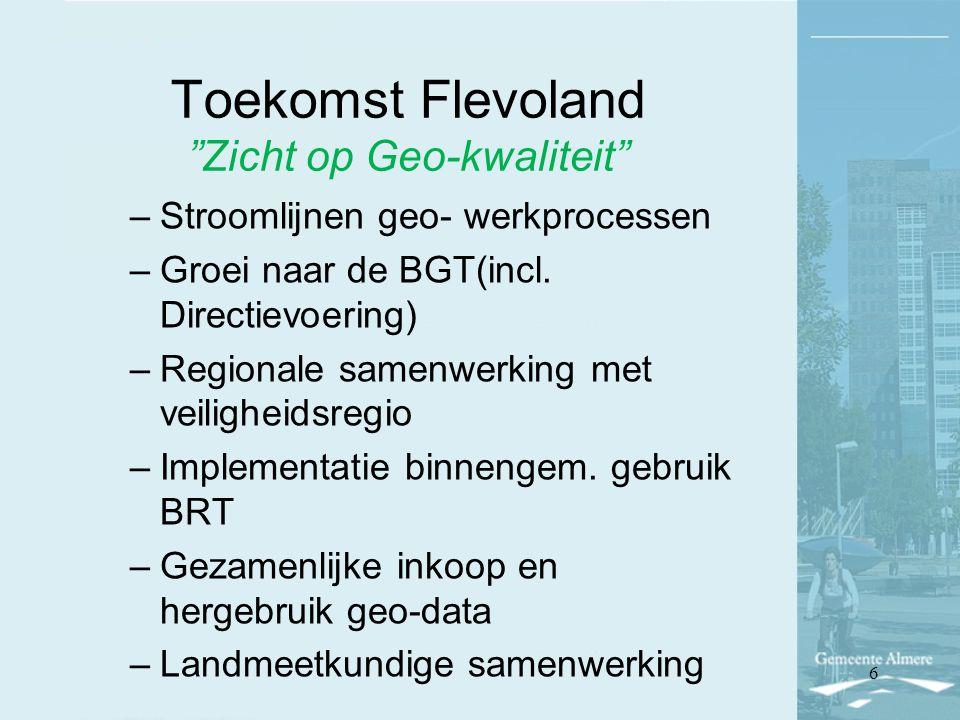Toekomst Flevoland Zicht op Geo-kwaliteit