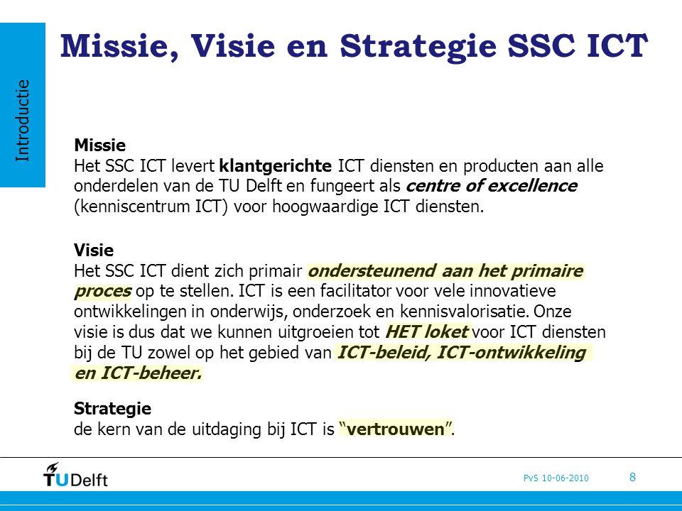 Missie, Visie en Strategie SSC ICT