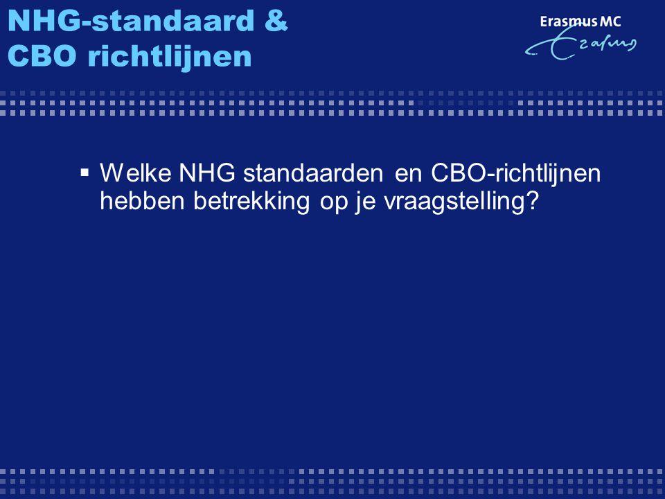 NHG-standaard & CBO richtlijnen