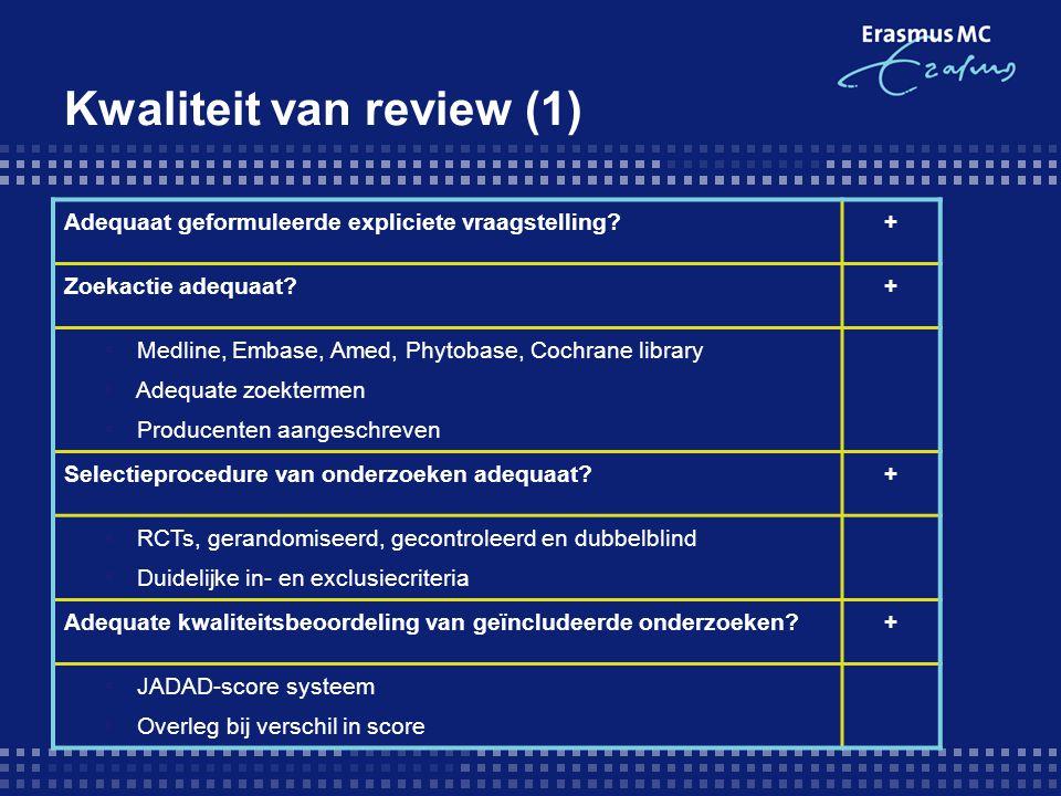 Kwaliteit van review (1)