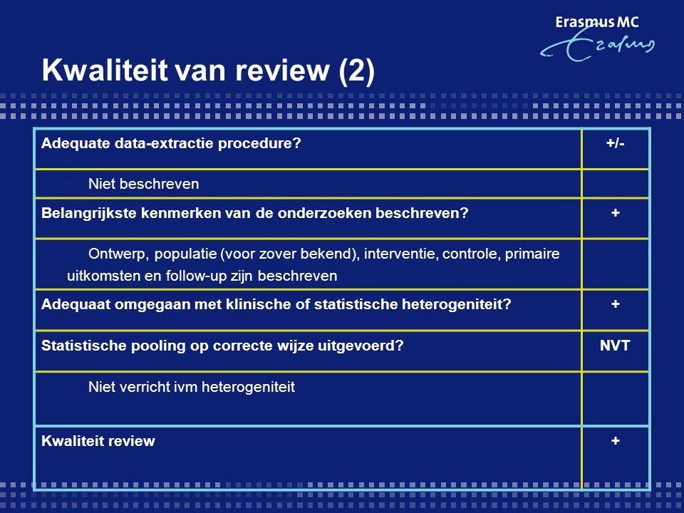 Kwaliteit van review (2)