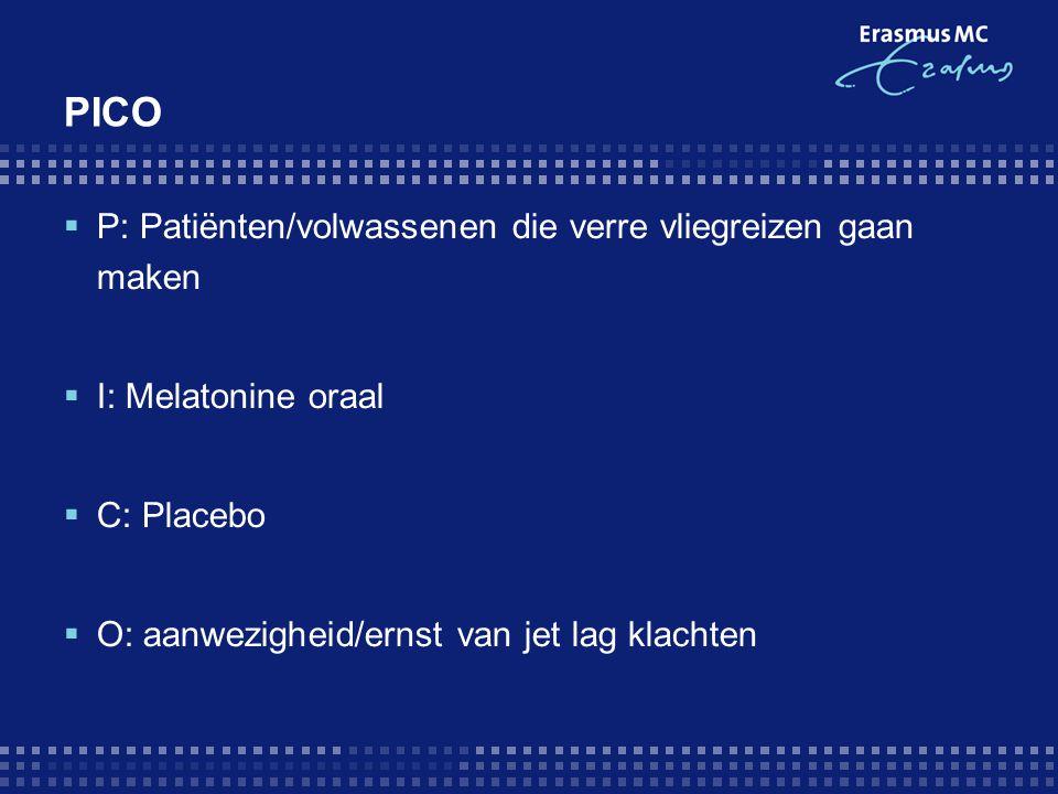 PICO P: Patiënten/volwassenen die verre vliegreizen gaan maken