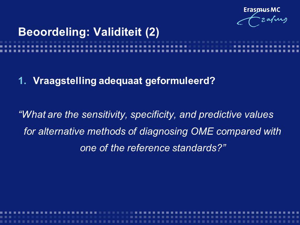 Beoordeling: Validiteit (2)