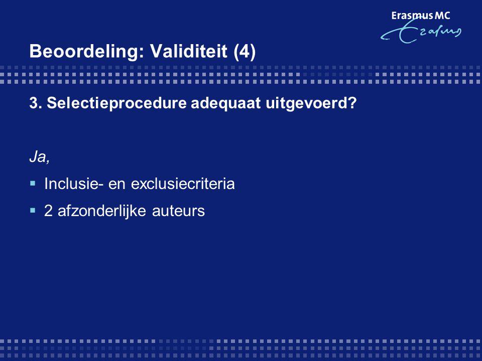 Beoordeling: Validiteit (4)