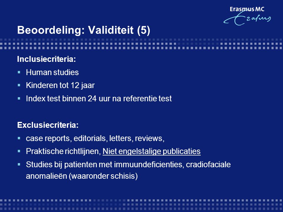 Beoordeling: Validiteit (5)