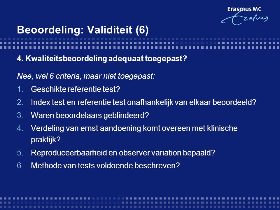 Beoordeling: Validiteit (6)
