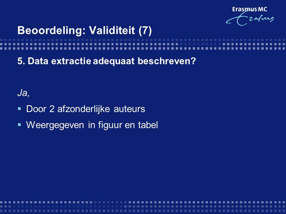 Beoordeling: Validiteit (7)