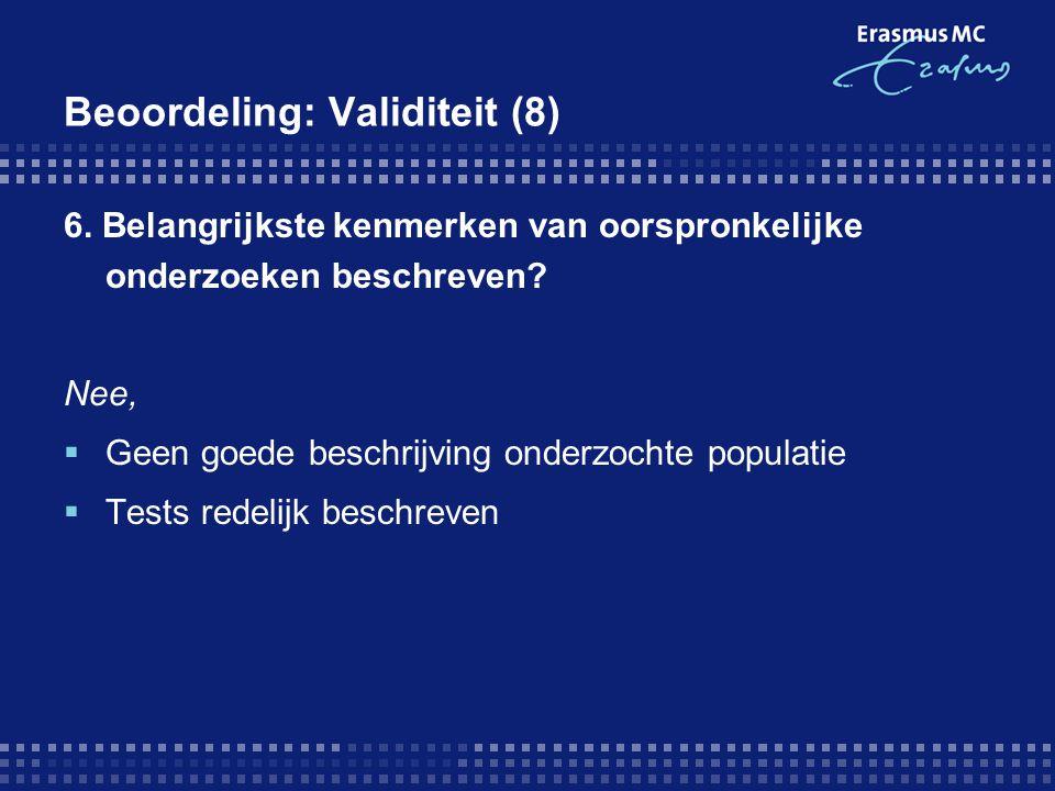 Beoordeling: Validiteit (8)