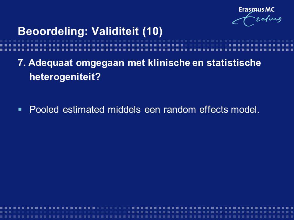 Beoordeling: Validiteit (10)