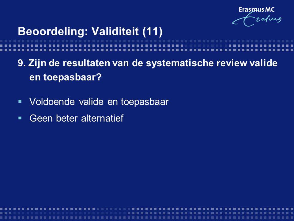 Beoordeling: Validiteit (11)
