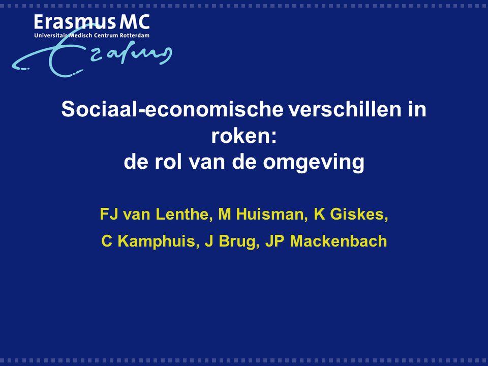 Sociaal-economische verschillen in roken: de rol van de omgeving