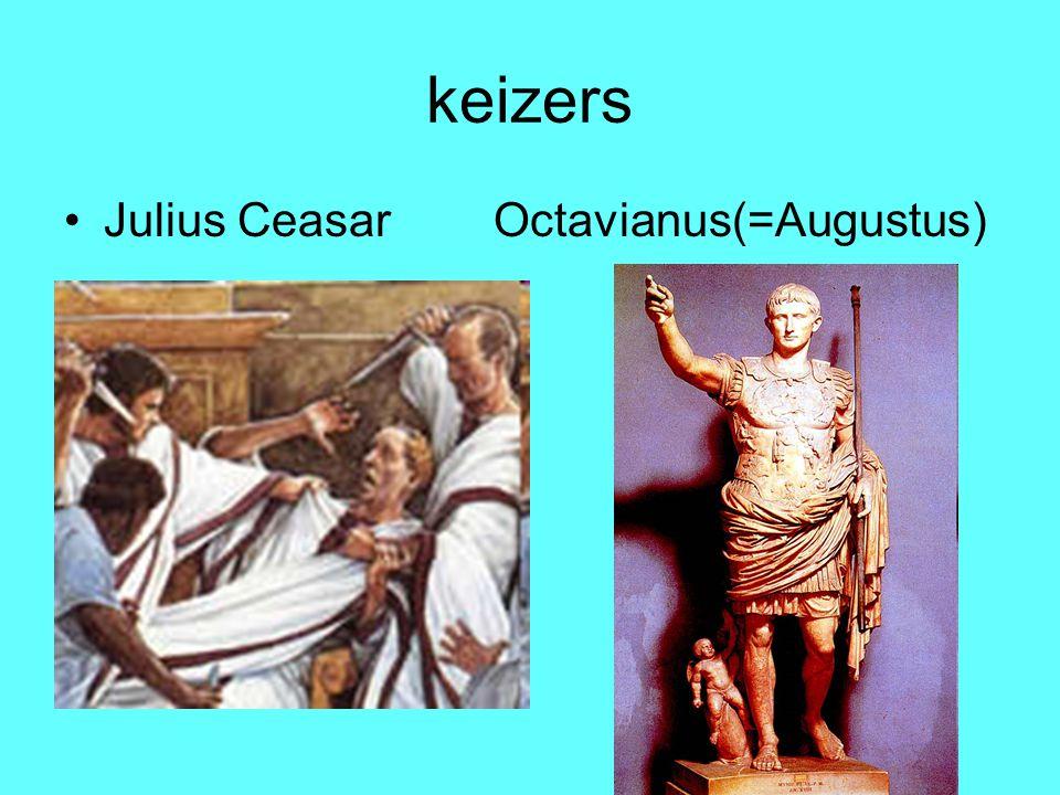 keizers Julius Ceasar Octavianus(=Augustus)