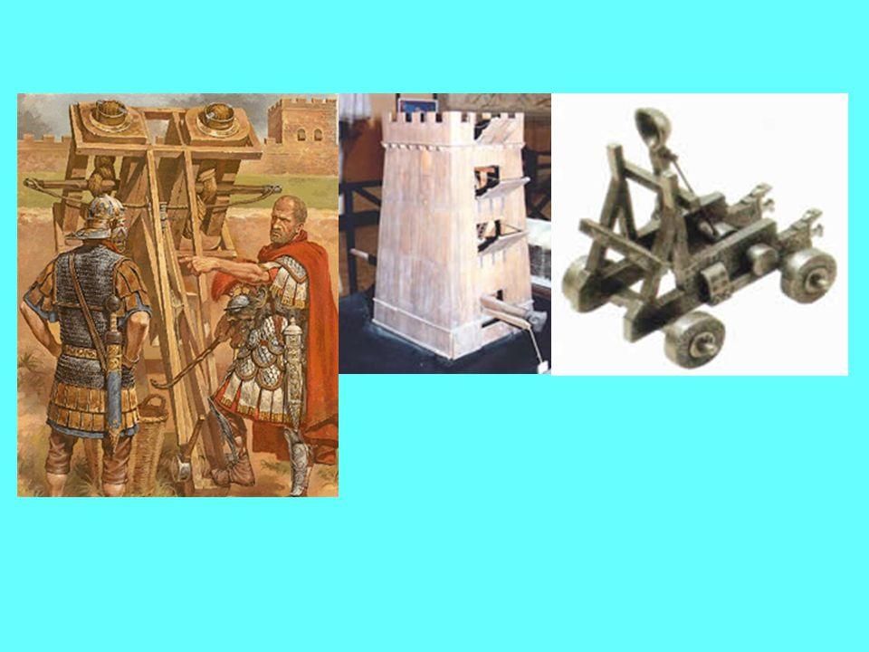 de Romeinen vochten niet alleen veldslagen, zij moesten ook steden en burchten veroveren.