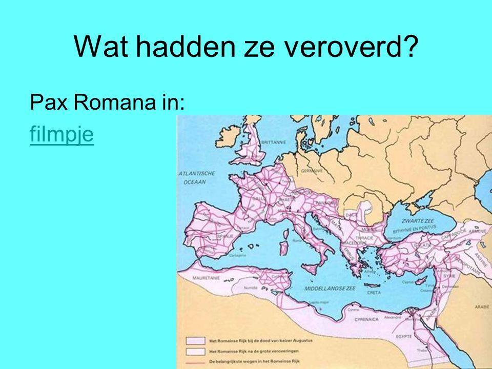 Wat hadden ze veroverd Pax Romana in: filmpje