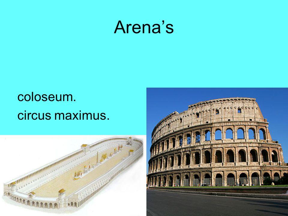 Arena's coloseum. circus maximus.