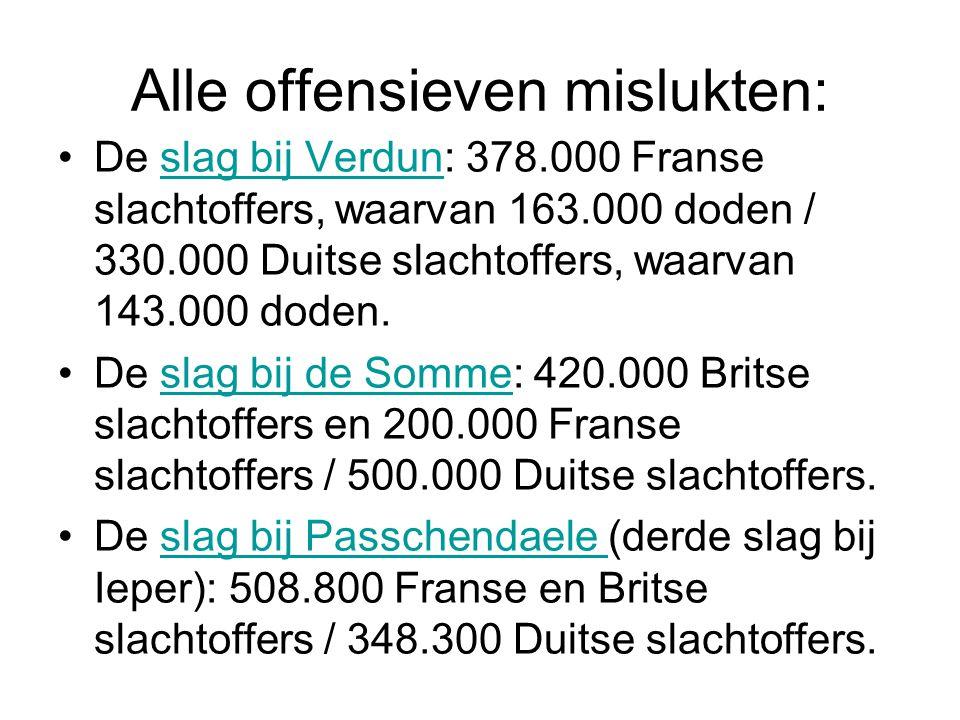 Alle offensieven mislukten: