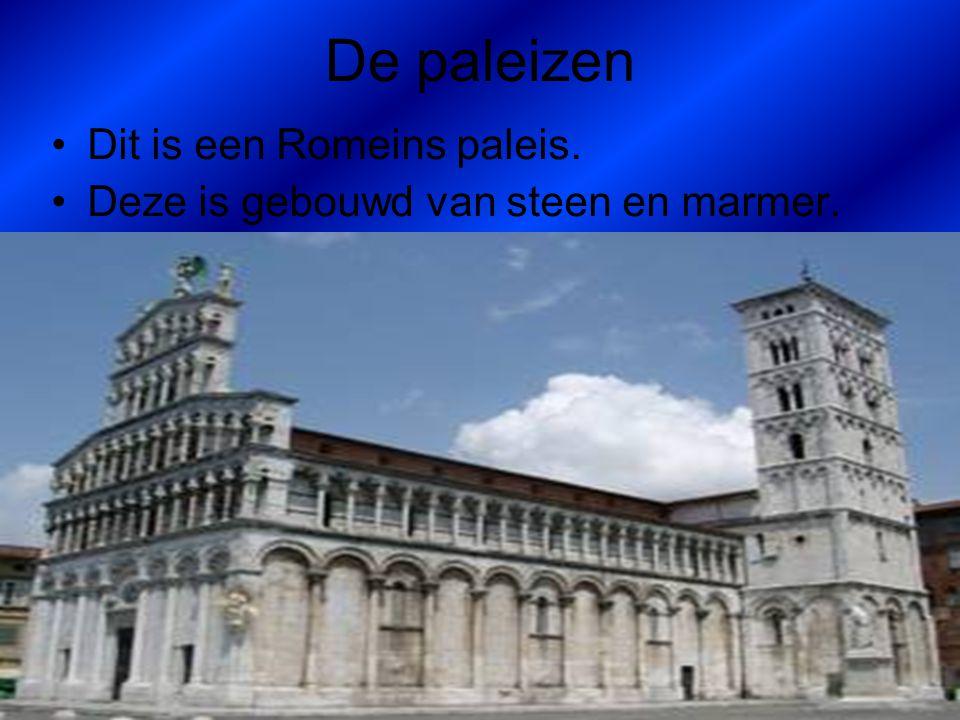 De paleizen Dit is een Romeins paleis.