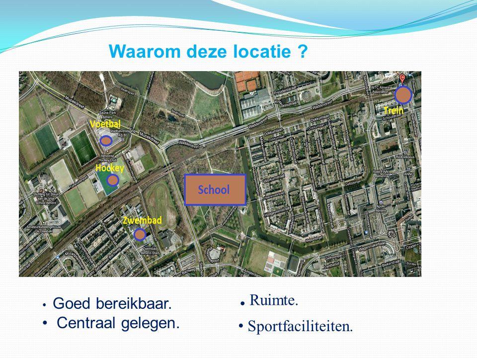 . Ruimte. Waarom deze locatie Centraal gelegen. Sportfaciliteiten.