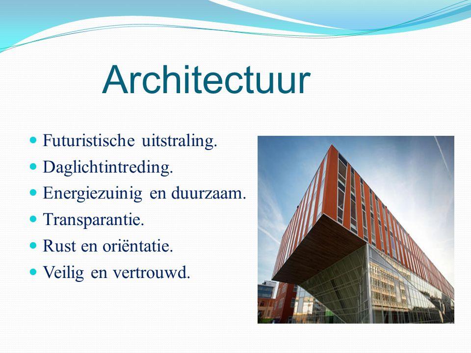 Architectuur Futuristische uitstraling. Daglichtintreding.