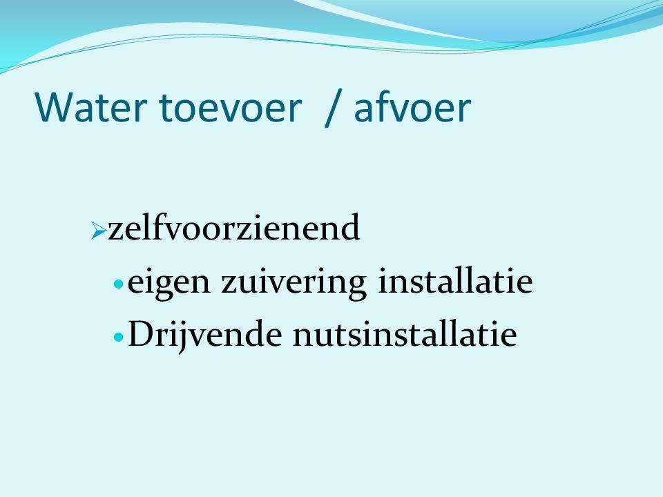 Water toevoer / afvoer zelfvoorzienend eigen zuivering installatie