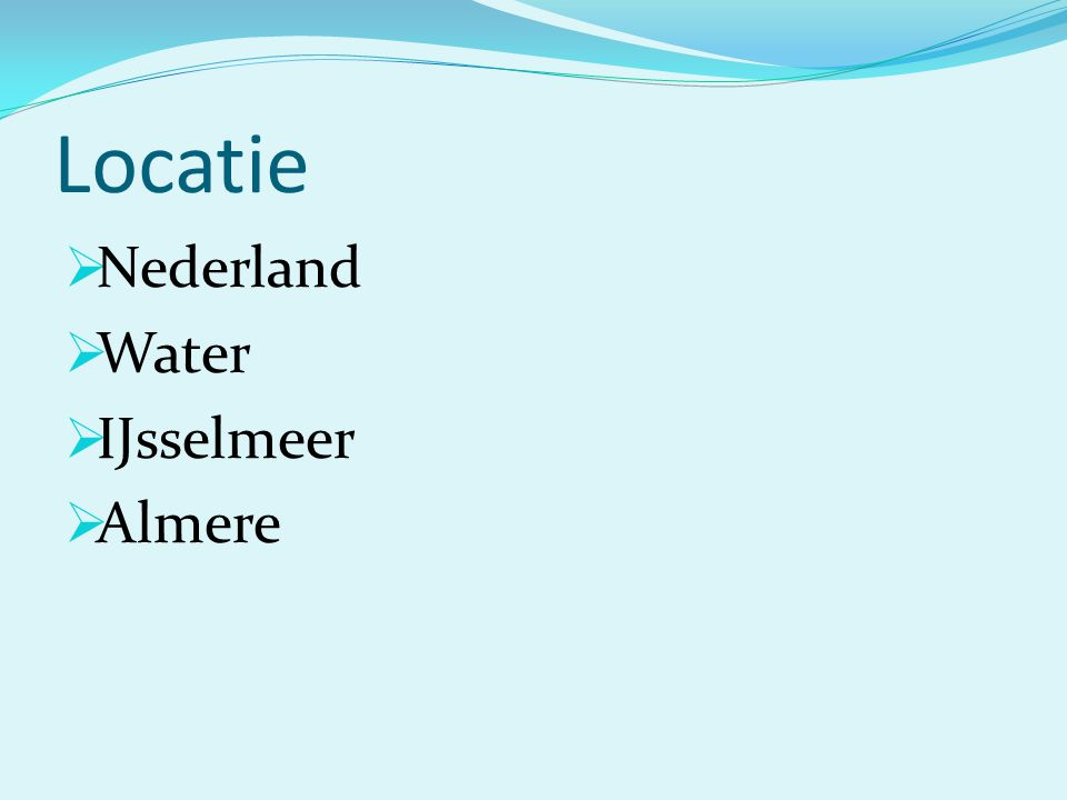 Locatie Nederland Water IJsselmeer Almere