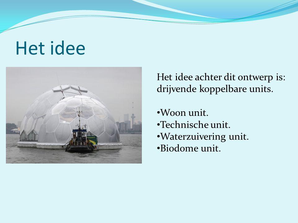 Het idee Het idee achter dit ontwerp is: drijvende koppelbare units.