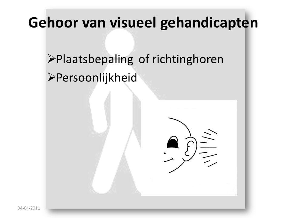 Gehoor van visueel gehandicapten