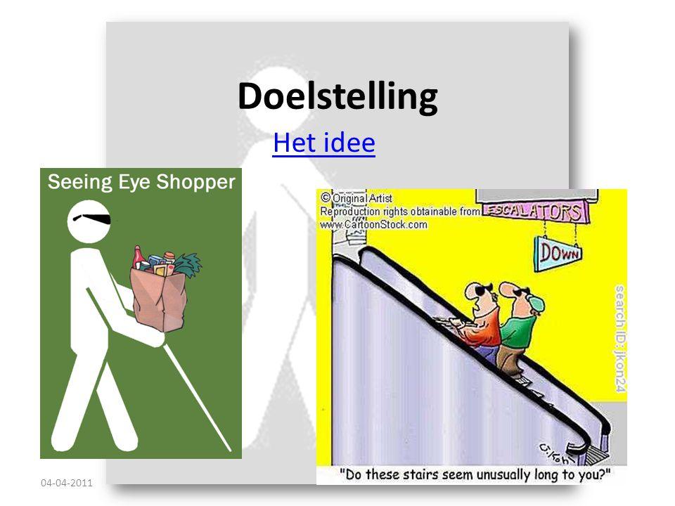 Doelstelling Het idee 04-04-2011